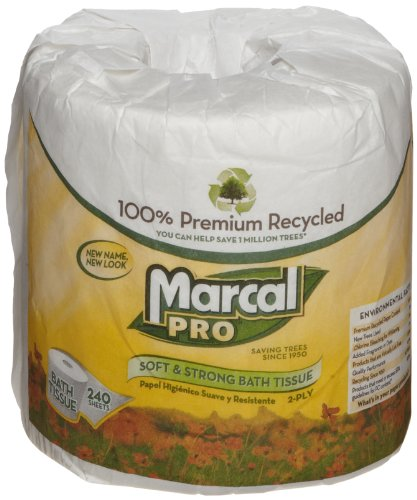 Marcal 3001 2-Ply Sunrise Polycase Toilet Tissue , 240 Sheets per Roll (Case of 48)
