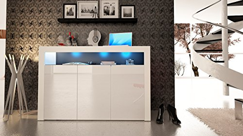 High Gloss Sideboard With Led Lights in Florida - 9