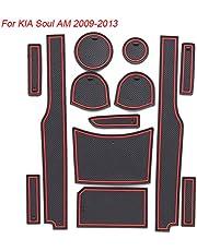 DYBANP Cuscinetto per scanalatura della portiera della Polvere per Auto, per KIA Soul AM 2009-2013, Cuscinetti per Slot per cancello Antiscivolo per Auto 13 pz