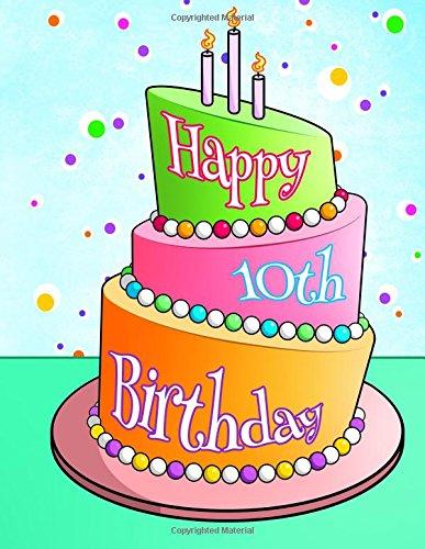 Happy 10th Birthday: Discreet Internet Website Password Organizer, Birthday Gifts for 10 Year Old Girls or Boys, 8 1/2