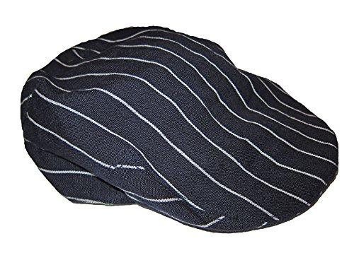 Rugby Ralph Lauren Mens Pin Stripe Linen Driving Cap (M / L)