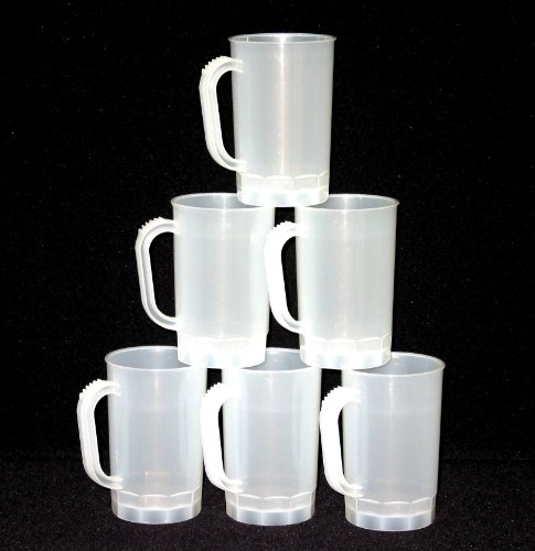 Talisman, Plastic Beer Mugs, 1 Pint, Pack 10, Color Frosted