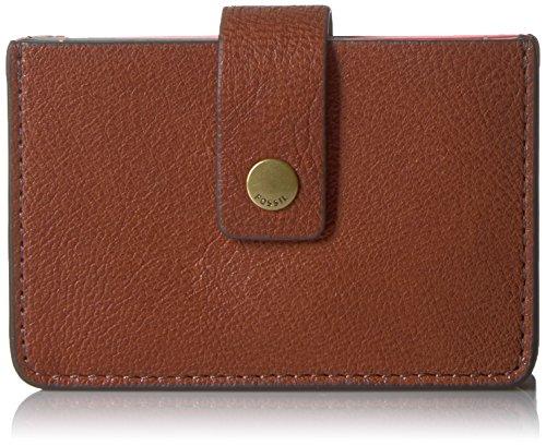 Fossil Mini Wallet Mini Tab Multi Brown Wallet
