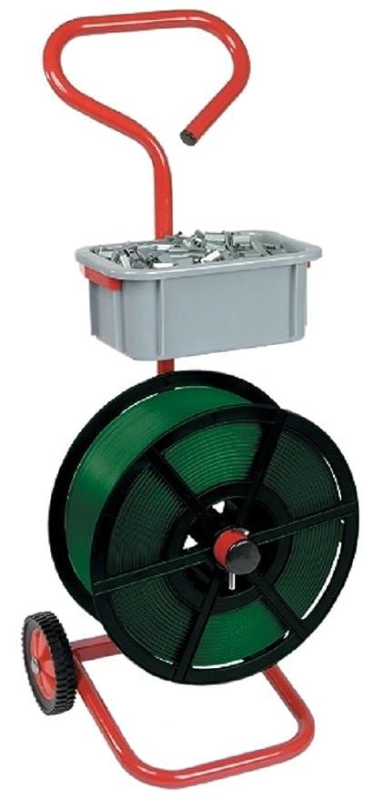 Heavy Duty Metal fuerte móvil carro soporte con ruedas para flejado bandas eshisha palet + accesorio