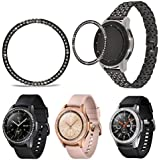 JEI-Men for Samsung 42mm Bezel Ring Adhesive Cover Anti Scratch Stainless Steel + Screen Protector Case for Galaxy Watch 42mm