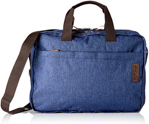 BREE Collection Unisex-Erwachsene Punch Style 67, Briefc. S19 Umhängetasche, Blau (Jeans Denim), 13x30x36 cm