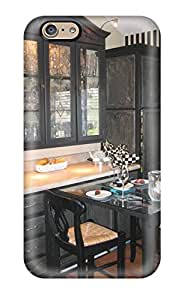 Hot Snap-on Distressed Black Cabinetry With Pull-out Dining Table Hard Cover Case/ Protective Case For Iphone 6