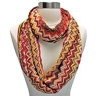 Gorgeous Black Jersey Aztec Print Circle Loop Infinity Scarf Snood New Spring