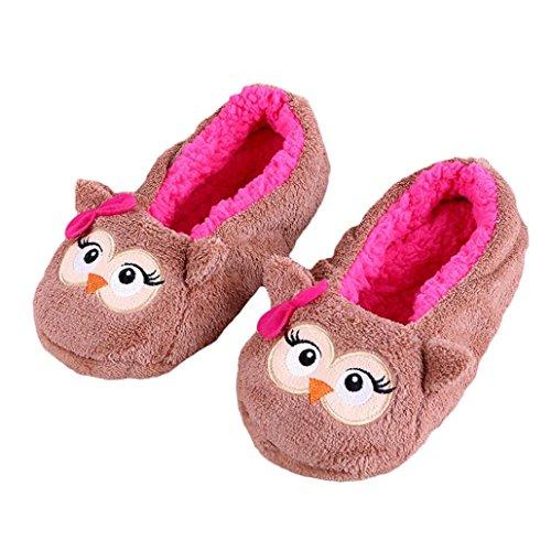 Weihnachtsgeschenk SHOBDW Frauen-Damen-Freie Größe Baumwolle warme Hausschuhe weiche Plüsch-Weihnachtsschuhe C