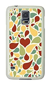 Samsung S5 Case,VUTTOO Samsung S5 Cover With Photo: Light Colors Petals For Samsung Galaxy S5 / Galaxy SV / Galaxy S V - PC White Hard Case