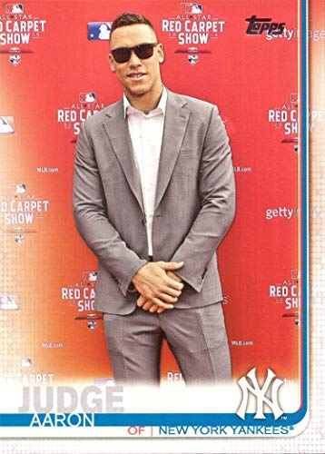 2019 Topps #150 Aaron Judge Baseball Card - Short Print Photo Variation - Wearing Suit at 2018 All-Star Game Red Carpet