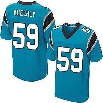 ZJFSL Camiseta de f/útbol de la NFL Carolina Panthers Fan Edition Embroidery Football Sportswear Short Sleeve Sport Top T-Shirt