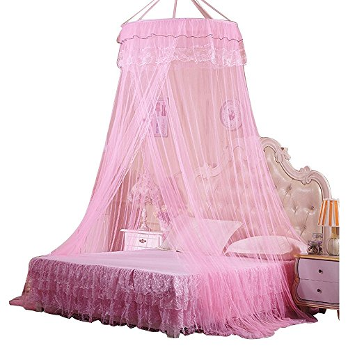 Mosquito Net Bed Canopy Rusee Lace Dome Netting Bedding Double Bed Conical Curtains Fly Screen Netting Bug Screen Repellant - Repels Insects Carrying ...  sc 1 st  Amazon.com & Pink Hanging Tent: Amazon.com
