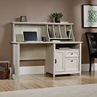 Sauder Edge Water Computer Desk with Hutch in Chalked Chestnut