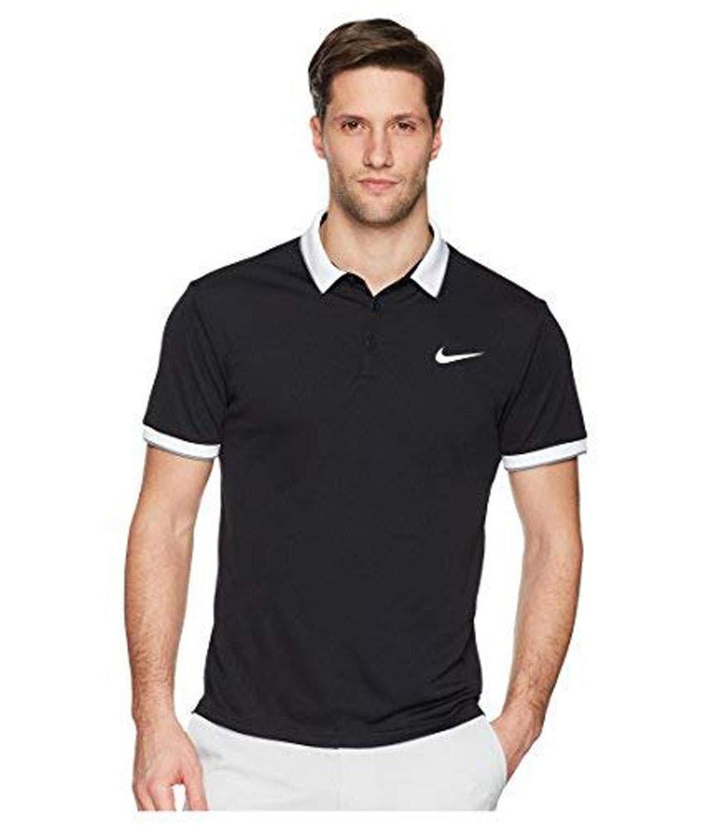 Nike Men's Court Dry Polo 018 Size M Black