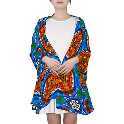- Circles And Hand-drawn Shapes Unique Fashion Scarf For Women Lightweight Fashion Fall Winter Print Scarves Shawl Wraps Gifts For Early Spring
