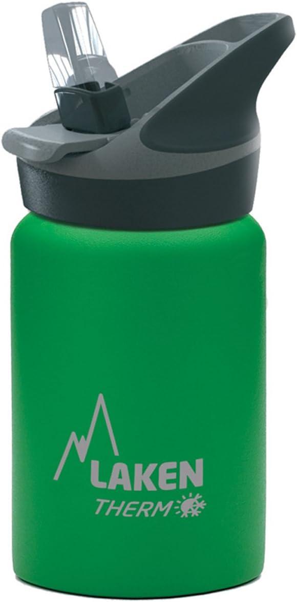 Laken Jannu Botella Térmica Acero Inoxidable 18/8 y Doble Pared de Vacío, Unisex adulto, Verde, 350 ml