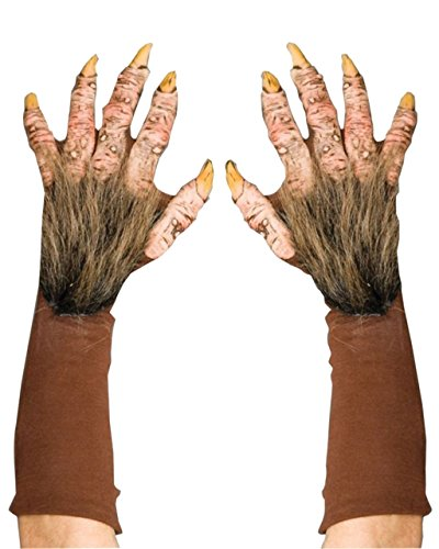 Zagone Beast Gloves, Brown Faux Fur, Yellow Nails, Gloves ()