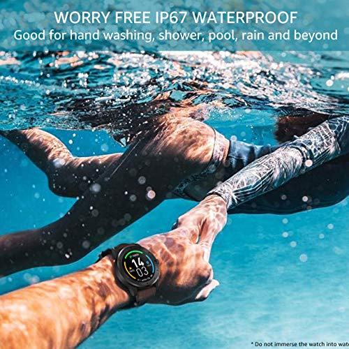 OUTAD Smart Watch with 24h Heart Rate Blood Oxygen Pressure Sleep Monitor For Android Phone iPhone, IP67 Waterproof Fitness Tracker Step Pedometer, Bluetooth Music Control Notification Reminder, Black