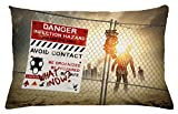 walking dead pictures - Ambesonne Zombie Throw Pillow Cushion Cover, Dead Man Walking in Dark Danger Scary Scene Fiction Halloween Infection Picture, Decorative Accent Pillow Case, 26 W X 16 L Inches, Multicolor