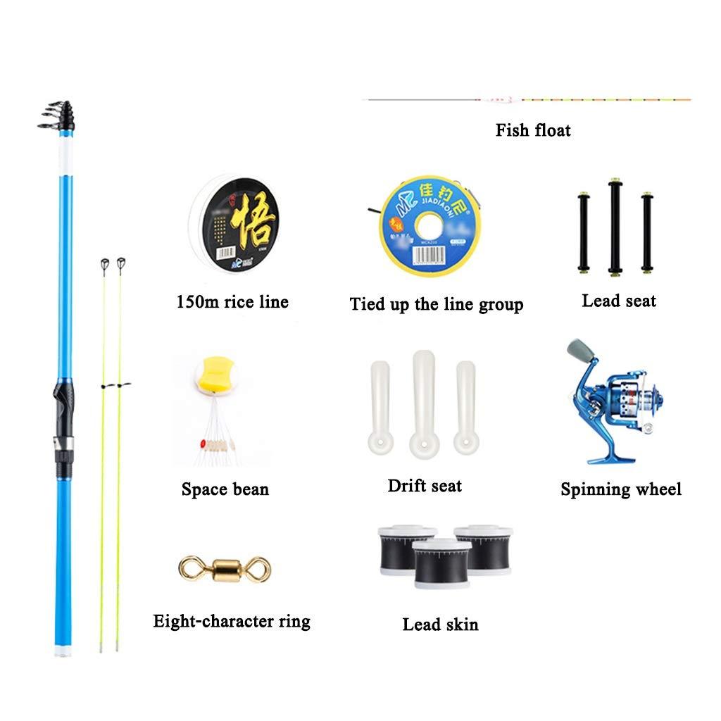 フィッシングロッド - 超軽量スーパーハードカーボンダブルロックフィッシングロッド手錠セット格納式釣りギア (サイズ さいず : 3.0m) 3.0m  B07QDJK7GC