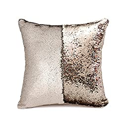 Two Color Mermaid Sequins Cushion Covers