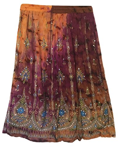 zingaresco del Sundress danza estate paillettes ventre Womans S7 Hippie maxi Boho indiano Gonna Colorful signore X87AaqSw