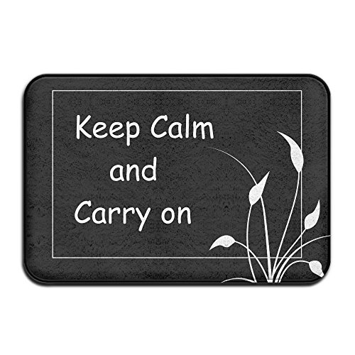 Keep Calm And Carry On Indoor Outdoor Entrance Printed Rug Floor Mats Shoe Scraper Doormat For Bathroom, Kitchen, Balcony, Etc 16 X 24 - The The Snow Fuck Where Is
