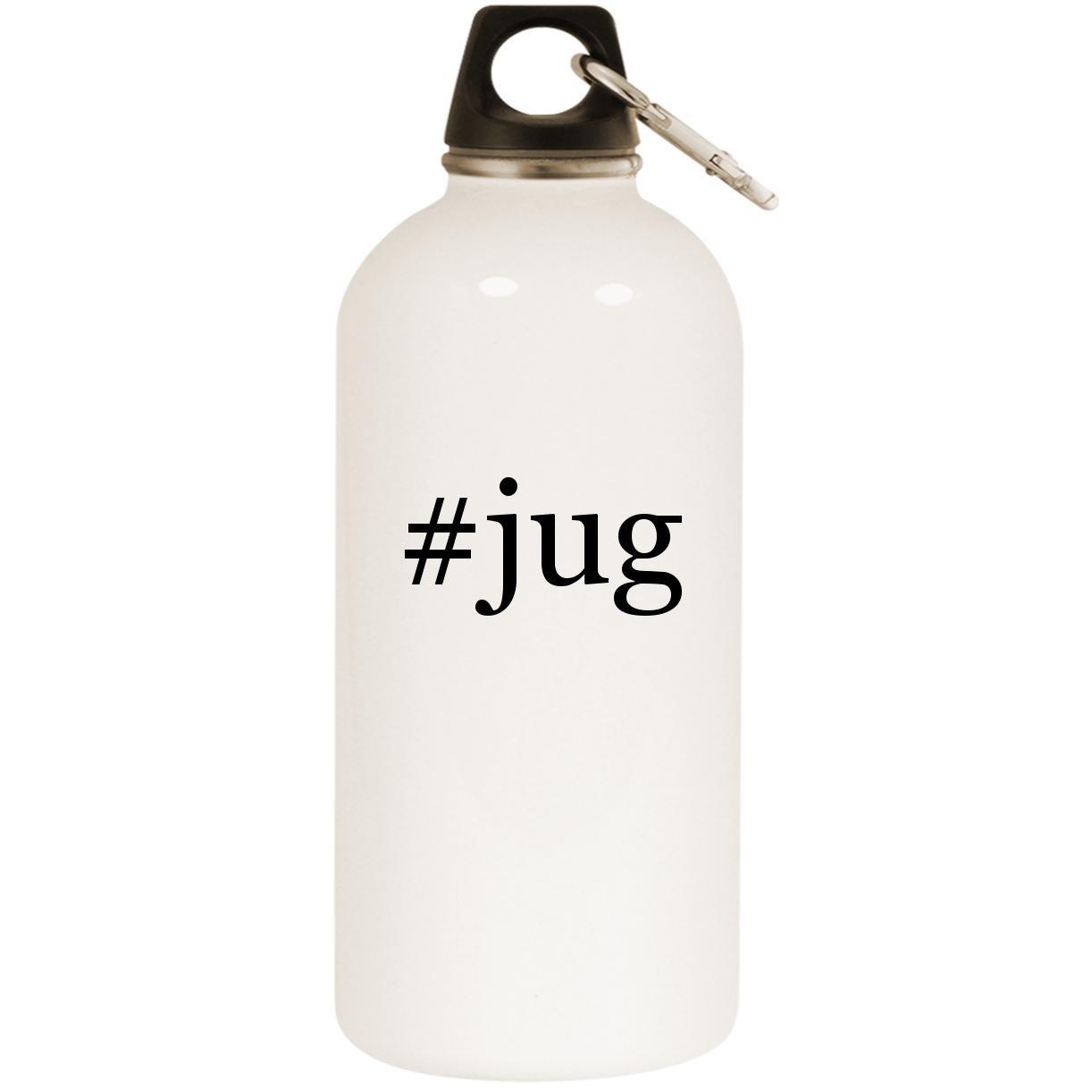 # Jug – ホワイトハッシュタグ20ozステンレススチールウォーターボトルカラビナ B0741YJNBR