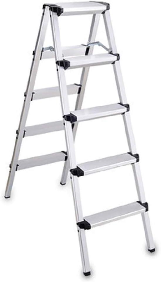 Stepladder Escalera plegable de cuatro pasos for el hogar, Escalera retráctil de aluminio de uso múltiple Tiene capacidad for hasta 150 kg, Escalera de tijera, Extensión extendida, Pies antideslizante: Amazon.es: Bricolaje y