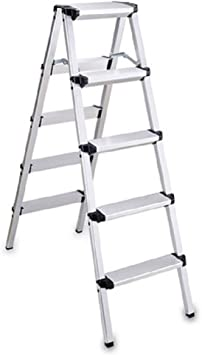 Escaleras Escalera plegable de cuatro pasos for el hogar, Escalera retráctil de aluminio de uso múltiple Tiene capacidad for hasta 150 kg, Escalera de tijera, Extensión extendida, Pies antideslizantes: Amazon.es: Bricolaje y