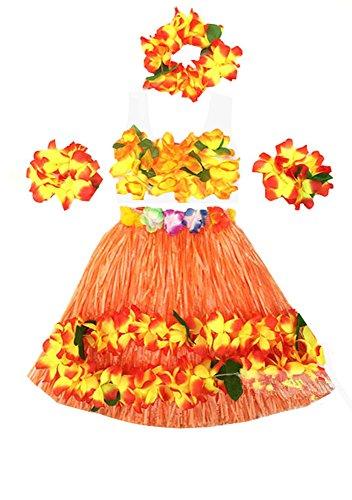 Hula Dancers Costumes - Kids Girl's Elastic Hawaiian Hula Dancer