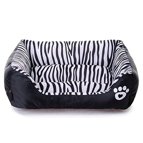 General Cat Cage Cage (Spring Fever Ultra-Soft Paw Print Pet Water Resistant Rectangle Orthopedic Snuggle Dog Cat Warm Pet Bed H Zebra S (17.311.84.7 inch))