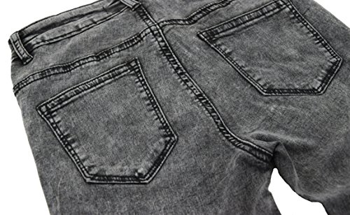 Donna 42 da boyfriend skinny 34 straight a jeans pantaloni Nero denim bootcut slim Sbiadito slim rH4rxaq