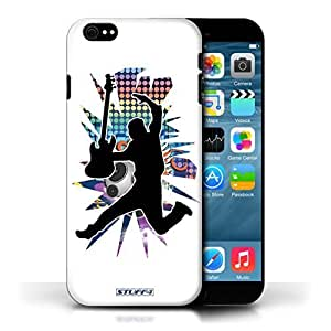 KOBALT? Protective Hard Back Phone Case / Cover For Case Samsung Note 4 Cover | Leap/Jump White Design | Rock Star Pose Collection