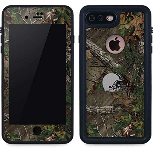 Skinit NFL Cleveland Browns iPhone 7 Plus Waterproof Case - Cleveland Browns Realtree Xtra Green Camo Design - Sweat-Proof, Snow-Proof, Dirt-Proof, Dust-Proof Phone Cover - Cleveland Browns Cover