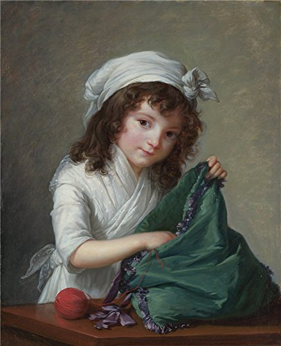 Perfect Effect Canvas ,the High Quality Art Decorative Canvas Prints Of Oil Painting 'Elizabeth Louise Vige Le Brun Mademoiselle Brongniart ', 12 X 15 Inch / 30 X 38 Cm ()
