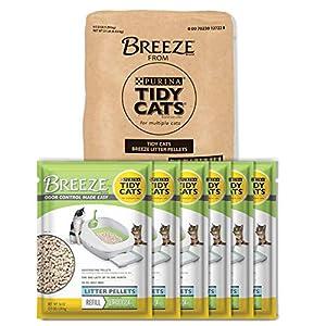 Purina Tidy Cats Litter Pellets; BREEZE Refill Litter Pellets - 3.5 lb. Pouch - Pack of 6 10