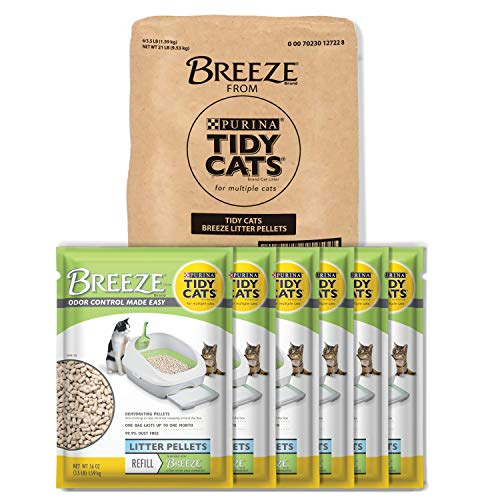 Purina Tidy Cats Litter Pellets; BREEZE Refill Litter Pellets - 3.5 lb. Pouch - Pack of 6 (Best Cheap Cat Litter)