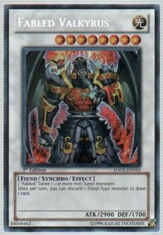 Yu-Gi-Oh! - Fabled Valkyrus (HA02-EN056) - Hidden Arsenal 2-1st Edition - Secret Rare