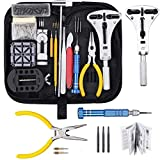 Baban 168 Pcs Watch Repair Kit,Professional Spring Bar Tool Set,Watch Battery Replacement Tool Kit,Larger Adjustable Case Opener,Forceps,Watch Band Link Pin Watch Band Remover with Carrying Case