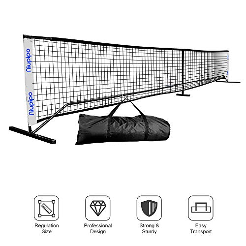 Pickleball Net - Portable Pickleball Net Sets With Large Carry Case, Wind & Dirty Resistant Pickleball Net For Durable Using Professional Pickleball Net System Includes Metal Frame & Net in Carry Bag