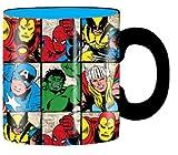 marvel grid mug - Silver Buffalo Marvel Characters Grid Jumbo Ceramic Mug, 20 Ounces, Multicolored (MC6134)