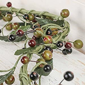 Factory Direct Craft 7 Foot Long Artificial Berry and Leaf Garland for Event Decor, Floral Arranging and Crafting 33