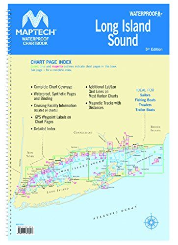 Long Island Sound Maptech Waterproof Chartbook 5th Edition