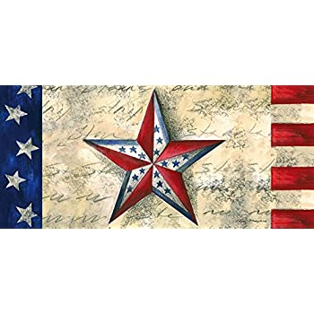 Amazon Com Door Mat Vintage Flag Of American Stars And