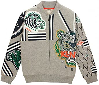 Sweat Kenzo Kids Multi Icônes Gris Chiné Enfant: