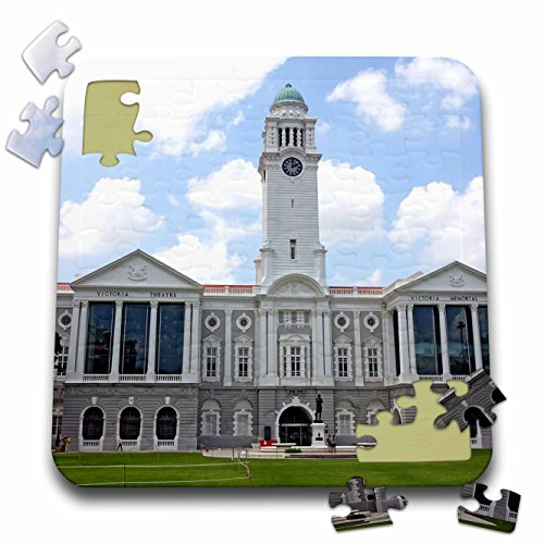 Cities Of The World - Victoria Theatre and Concert Hall, Singapore - 10x10 Inch Puzzle - Singapore Raffles City