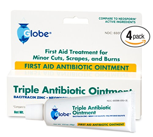 Triple Antibiotic First Aid Ointment (Compare to Neosporin) (4 Pack)