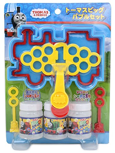 (Thomas & Friends Official Bubble Wand for Large and Small Bubbles with Solution (Japan Import))